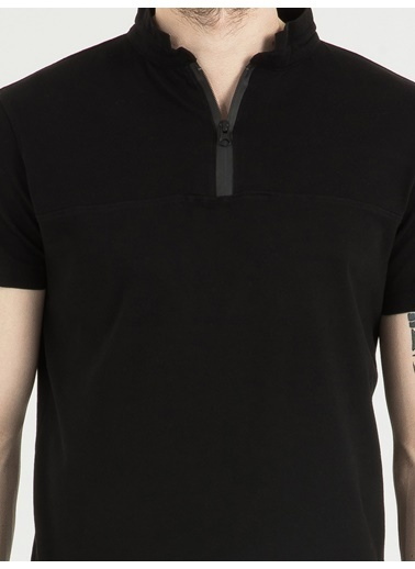 Loft Polo Yaka Tişört Siyah